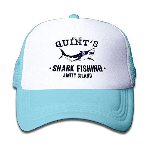 Adjustable Baseball Mesh Cap Quint's Shark Fishing Jaws Trucker Hat for -