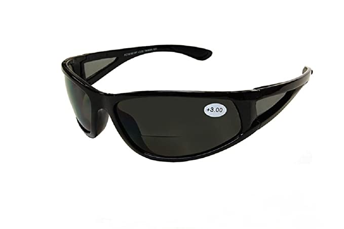 28f1017b8de Amazon.com  Sports Wrap Nearly Invisible Line Bifocal Sunglass ...