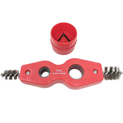 Copper Pipe Cleaner and Reamer Value Set - Tested and Proven by Plumbers To Prepare Pipes To Solder-4 in 1 Pipe Cleaner and Pipe Reamer, Plummers Use to Do The Job, Purchase Together To save You Money