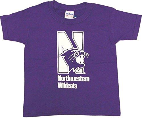 Northwestern Wildcats Youth's Purple Mascot Logo T-shirt (Chest Logo Youth T-shirt)