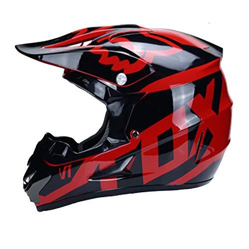 Adult Men Woman Helmet Moto Motocross Motorcycle Off Road ATV Dirt Bike Racing w/Goggles Gloves,M