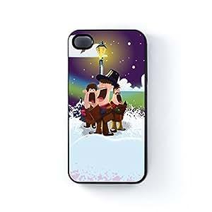 Carol Singers Black Hard Plastic Case for Apple? iPhone 4 / 4s by Nick Greenaway + FREE Crystal Clear Screen Protector wangjiang maoyi