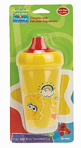 Sesame Beginnings Spill Proof Cup, 7 Ounce,colors may - Sesame Street Cups Beginnings