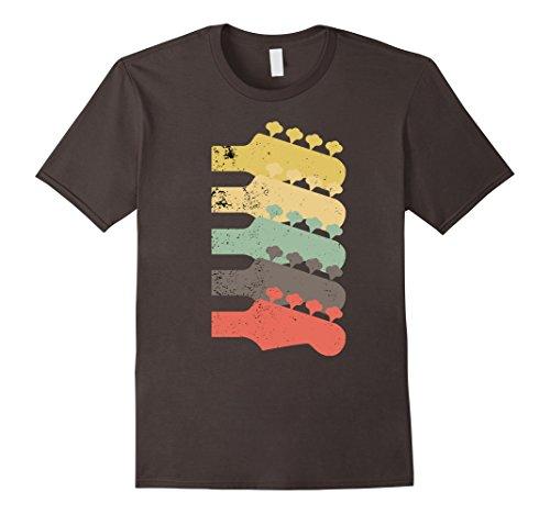 Mens Vintage Electric Bass Guitar Necks T-Shirt 2XL Asphalt Double Neck Guitar T-shirt
