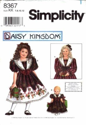 Simplicity 8367 Sewing Pattern Girls Daisy Kingdom, used for sale  Delivered anywhere in USA