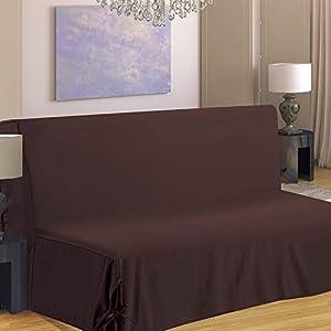 Homemaison Hm69f516 80 Housse De Canape Pour Bz Polyester Chocolat
