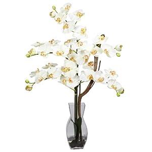 Phalaenopsis with Vase Silk Flower Arrangement 25