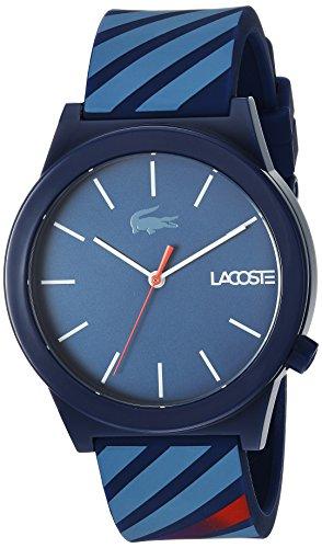 Lacoste Men's 'Motion' Quartz Plastic and Rubber Casual Watch, Color:Blue (Model: 2010934)