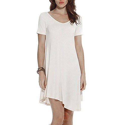 acd148f7a357 Marolaya Women s Casual Plain Simple Pocket T-shirt Loose Dress - Buy  Online in Oman.
