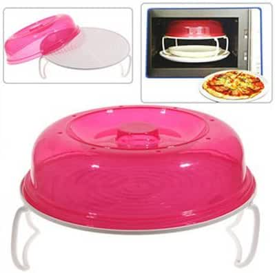LUQUAN Microwave Oven Stratified Heater Double Layer Heating Plates - Rosy & White