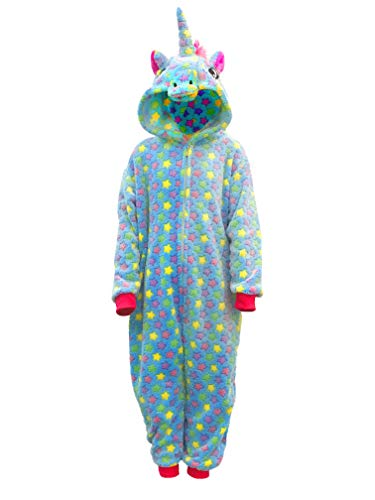 (RONGTAI Kids Unisex Animal Flannel Unicorn Onesie Pajamas Cosplay Costume(125#( 55