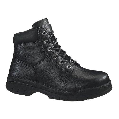 Wolverine Men's Marquette Rubber Safety Toe 6 Inch Work Boot,Black,9 M US (Boot Wolverine Foam)