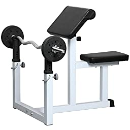 Topeakmart EN957 Commercial Preacher Curl Weight Bench Seated Preacher Isolated Dumbbell Biceps