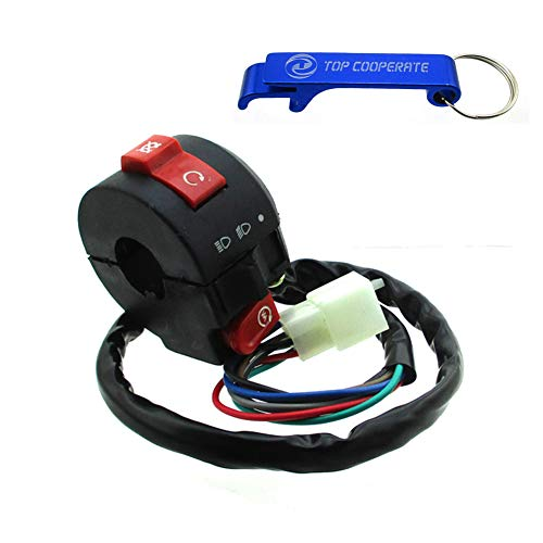 TC-Motor Handle Kill Starter Light Switch Assembly 3 Function 7 Wire For Sunl Roketa Coolster 50cc 70cc 110cc 125cc ATV - Switch Handle