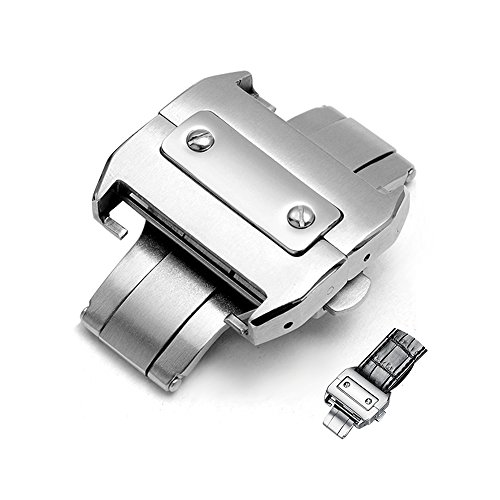 - 18mm Stainless Deployment Buckle Metal Clasp Watch Band Accessorie Steel Watchband Buckle Butterfly Clasp