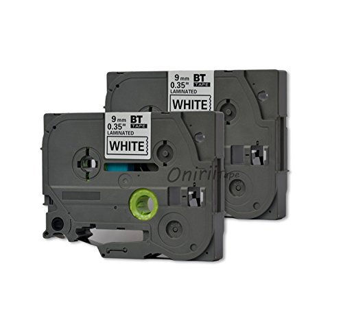 2PK Onirii Compatible Brother p Touch Label Maker Tapes TZ221 TZe221 TZ-221 TZE221~3/8