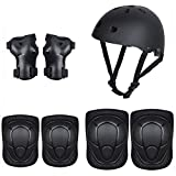 DAN&LAN Kids Bike Helmets Toddler Bicycle Helmets Adjustable Boys Girls Helmets Elbow Pads Knee Pads Wrist Set for Skateboard Riding Bikes Cycling Skating(3-8 Years Old)
