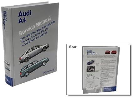 amazon com bentley paper repair manual audi a4 b6 b7 platforms