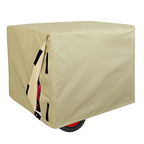 Leader Accessories Durable Universal Portable Generator Cover Waterproof Size M, 26'' Lx 20'' Wx 20'' H, Beige by Leader Accessories
