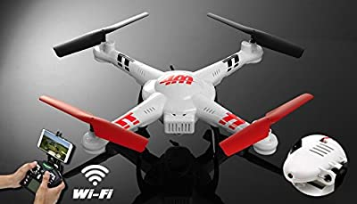 WL Toys V686K 6-Axis Gyro 2.4G 4CH WIFI FPV Real-time Videos Return (Android and IOS compatible device) UFO RC Quadcopter with HD Camera + Headless Mode