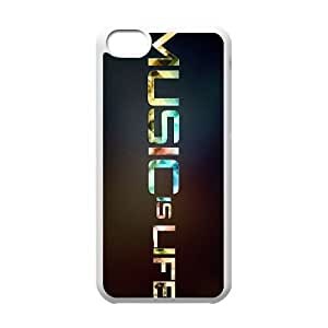 music is life 2 iPhone 5c Cell Phone Case White NGTS6245336262058