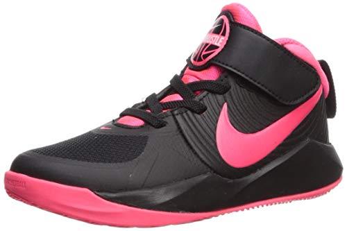 Nike Unisex Team Hustle D 9 (PS) Sneaker, Black/Racer Pink-White, 3Y Regular US Little Kid (Cheap Girls Jordan Shoes)