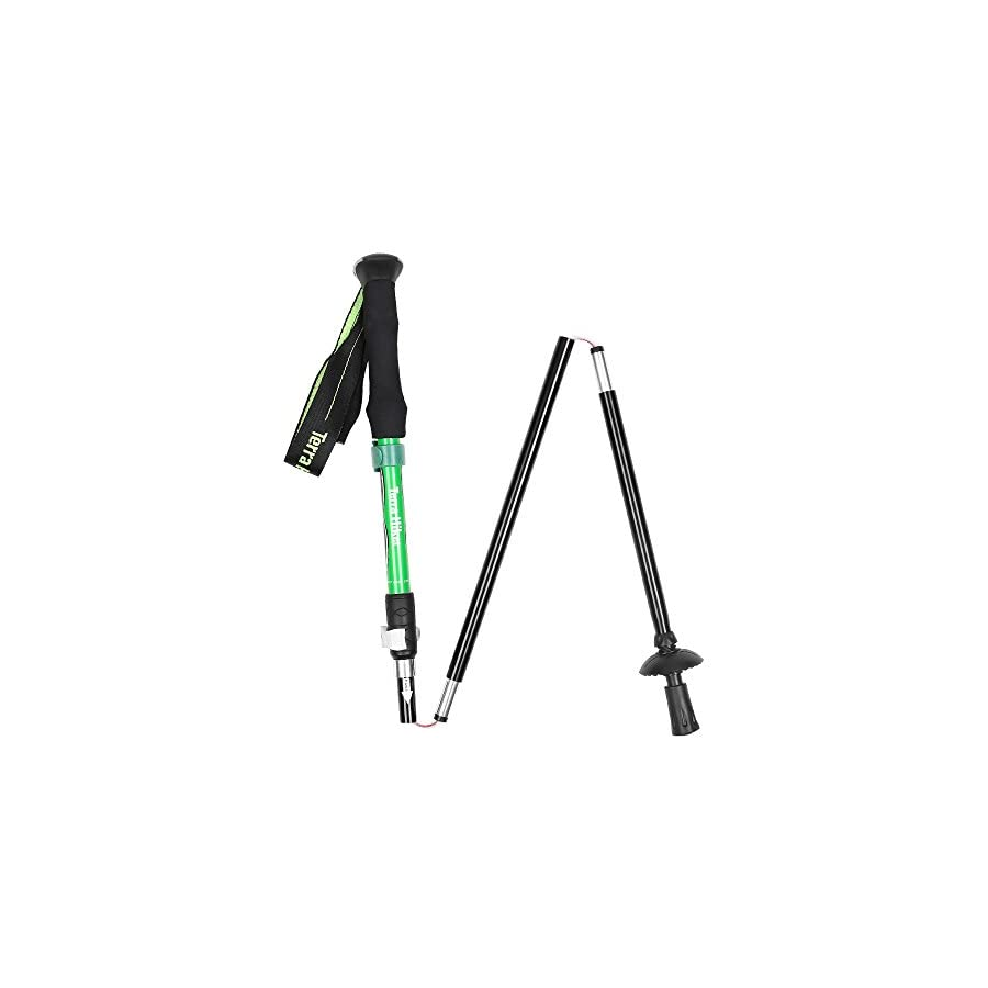 Terra Hiker Hiking Stick, Adjustable Trekking Pole, Collapsible Lightweight Hiking Pole with Lever Lock & Carry Sack for Camping, Hiking, 1 Piece