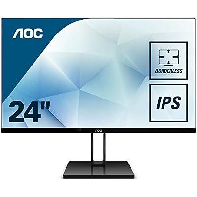 AOC 24V2Q 23 8  Widescreen IPS LED Black Monitor  1920x1080 5ms HDMI DP