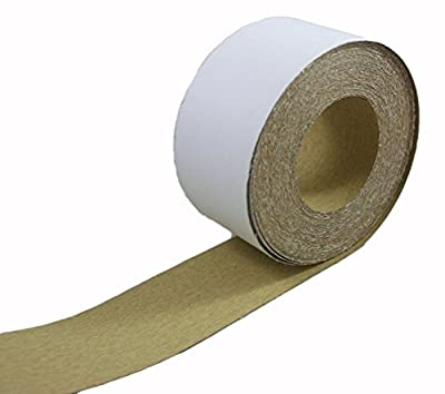"ABN Adhesive Sticky Back Sandpaper Roll 2-3/4"" Inch x 20 Yards Aluminum Oxide Golden Yellow Longboard Dura PSA"