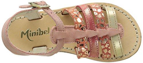 Minibel Chanae16 Mädchen Sandalen Pink - Rose (61 Corail/Imp Corail)