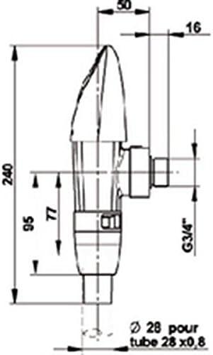 Presto Robinet de chasse avec robinet darr/êt int/égr/é PRESTO 1000 XL