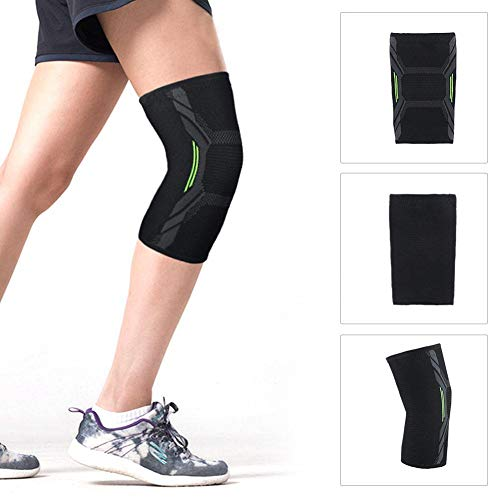 (KILLYSUFUY Sports Knee Pads Knee Brace Support Compression Sleeves, 1 Pair Wraps Pads for Arthritis, Pain Relief, Injury Recovery, ACL, Running, Football, Basketball and More Sports)
