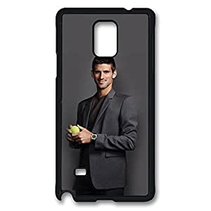 Samsung Galaxy Note 4 Case, Note 4 Case - Highly Protective Black Hard Back Case for Galaxy Note 4 Case Novak Djokovic 5 Anti-Scratch Hard Case for Samsung Galaxy Note 4