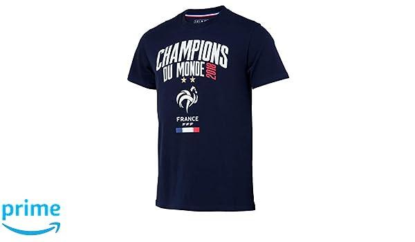 Selección de fútbol de Francia FFF - Champion del Mundo 2018 - Camiseta Oficial Talla niño: Amazon.es: Deportes y aire libre