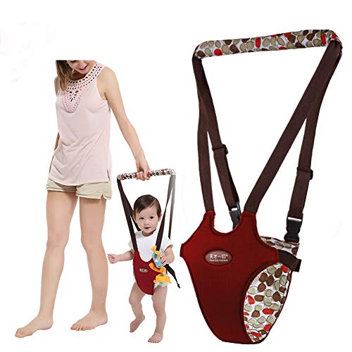Baby Toddler Walking Assistant Learning Walk Safety Reins Protective Belt Carry Trooper Walking Harness Handheld Baby Walker Safe Walking Assistant(Wine Red)