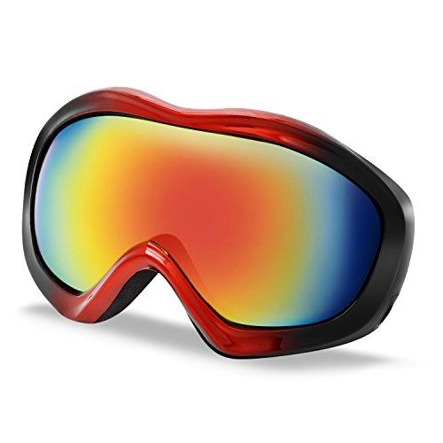 Testudo Ski Goggles, Winter Snow Snowboard Glasses Goggles for Men Women Kids & Youth Snowmobile Skiing Skating Snowboarding - 100% Windproof Anti-Fog UV Protection