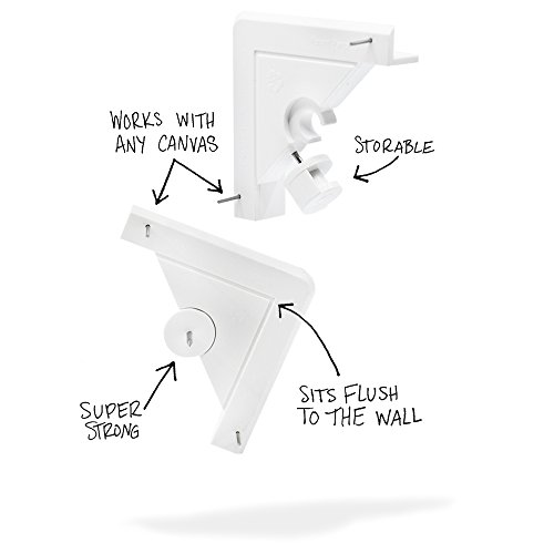 (Under the Roof Decorating 5-100200 15-20 lb Place&Push Canvas Hangers)