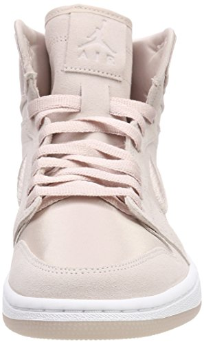 Nike Air Jordan 1 Retro High, Scarpe da Fitness Donna Multicolore (Silt Red/White-metal 650)