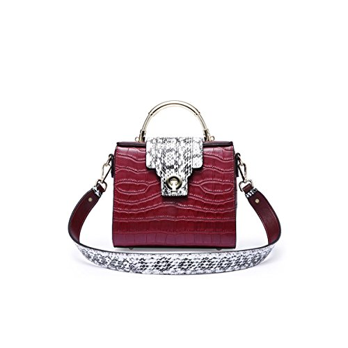 Leather Handbags For Women Leather Handbags Shaped Spring And Summer Messenger Bag Crocodile Pattern (black Brown Green Gray Red Silver) Network
