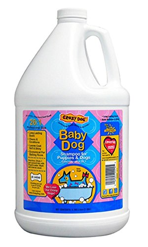 Crazy Dog Baby Powder - Concentrated Scented Pet Shampoo for Dog Grooming One Gallon - Choose Scent (Baby Dog)