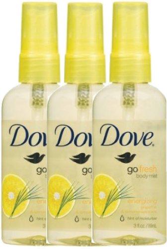 Amazon Com Dove Go Fresh Energizing Body Mist 3 Ounce Pack Of 3 Bath And Shower Spray Fragrances Beauty
