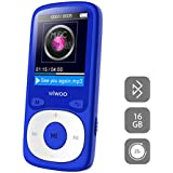 MP3 Player with Bluetooth, 16GB Portable Audio Music Player Support FM Radio/Voice Recorder, Come with Adjustable Armband/Headphones, Support Up to 128GB