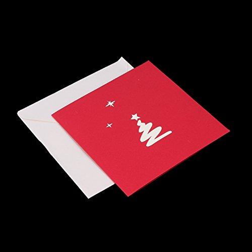 Durable Modeling Shizuhatagayama Carte De Voeux Avec Enveloppe 3d Creux Arbre Noel Pop Up Merry Christmas Danniversaire Nouvel An Cartes