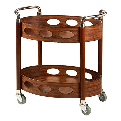- Trolley Chunlan Portable Practical, Food Supply, 2-Layer Dining Car, Kitchen, Solid Wood