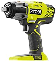 RYOBI P261 18 Volt One+ 3-Speed 1/2 Inch Cordless Impact Wrench w/ 300 Foot Pounds of Torque and 3,200 IPM (Ba