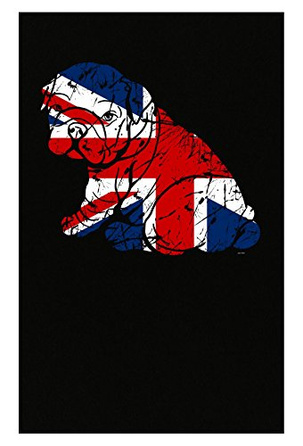 BADASS REPUBLIC Gifts English Bulldog Lovers Owners Union Jack Flag - Poster