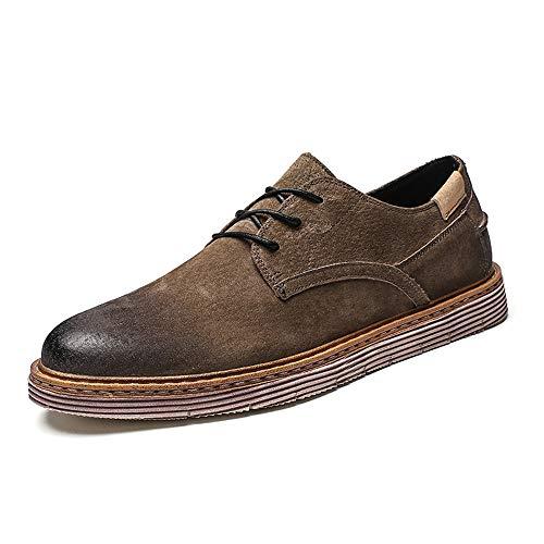 cordón Color Redondo Caqui Oxford del shoes Color Fang del del Formales Cepillo 2018 Dedo Plano Hombre Zapatos 40 pie Retro del tamaño pie del Dedo Zapatos del del Negocio Caqui EU Ocasionales del PfUwfqBx