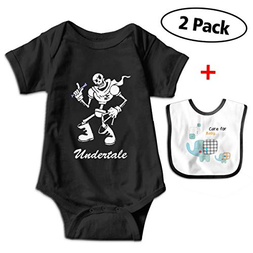 Chen Yun Baby Bodysuits Undertale Video Game Skull Image Short Sleeve Infant One-Piece with Baby -