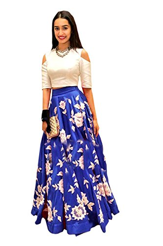 Delisa Fashion New Collection Women's Multi Coloured Georgette Lehenga Choli. (Royal Blue)