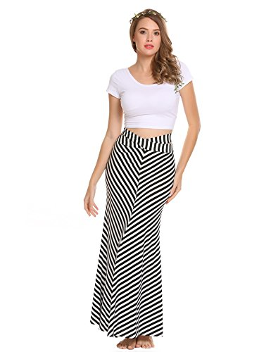 Zeagoo Women Sexy Maxi Stretch Bodycon Party Bandage Club Skirt Plus Size